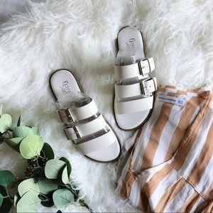 Franco Sarto | Kasa Leather Buckle Slide Sandal